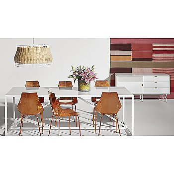 Laika Large Pendant with Real Good Chair, Strut Large Outdoor Table and Dang 1 Door/3 Drawer Console