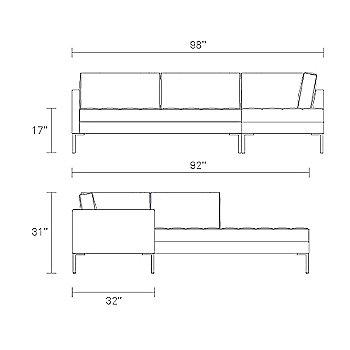 Schematic, Right Configuration