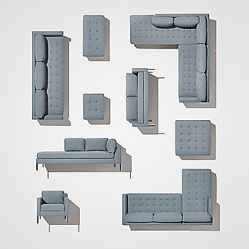 Paramount Sofa with Chaise with Paramount Lounge Chair, Paramount Bench, Paramount Daybed, Paramount Medium Sofa, Paramount Ottoman, Paramount Sectional Sofa, Paramount Sofa and Paramount Studio Sofa