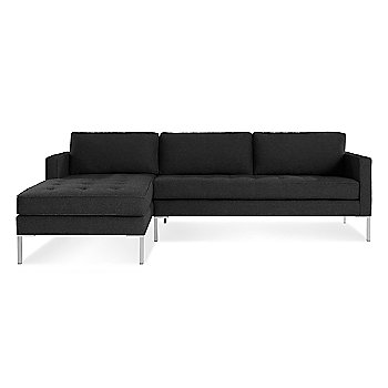 Libby Charcoal with Stainless Steel Legs / Left Orientation