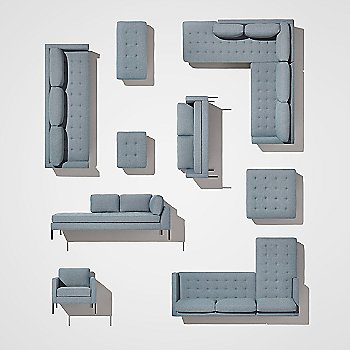 Paramount Bench with Paramount Lounge Chair, Paramount Sofa with Chaise, Paramount Daybed, Paramount Medium Sofa, Paramount Ottoman, Paramount Sectional Sofa, Paramount Sofa and Paramount Studio Sofa