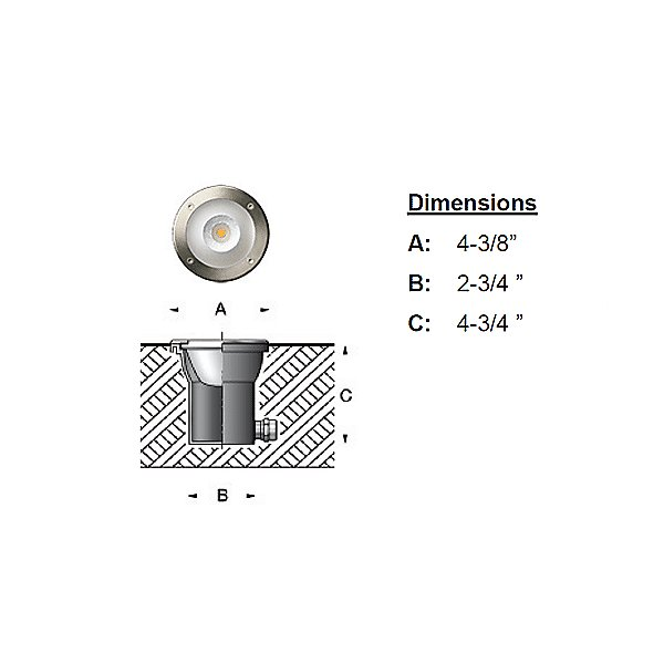LED Symmetric In-Ground Luminaire - 77010