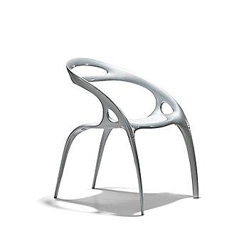 Silver Powdercoated Magnesium finish / White Polypropylene Seat