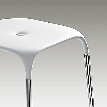 White with Polished Chrome Frame finish / Detail view