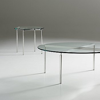 Chrome finish / Clear glass / in use