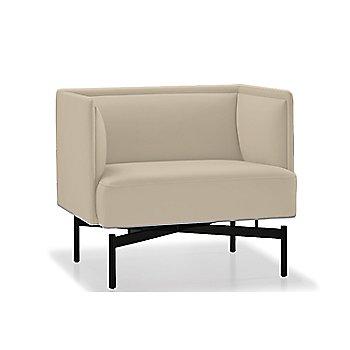 Powder-coated Matte Black finish / Focus / Limestone upholstery