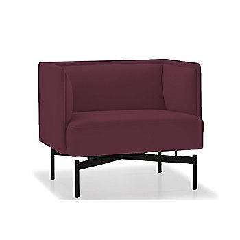 Powder-coated Matte Black finish / Focus / Plum upholstery