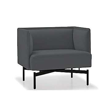 Powder-coated Matte Black finish / Focus / Charcoal upholstery