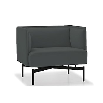 Powder-coated Matte Black finish / Essential Leather / Charcoal upholstery
