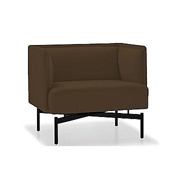 Powder-coated Matte Black finish / Rogue Leather / Bark upholstery