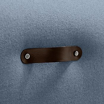 Brown leather handle detail