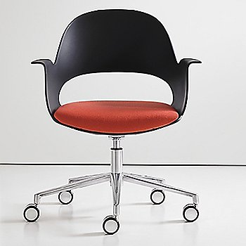 Black / Polished Aluminum with Focus / Cerise upholstered seat