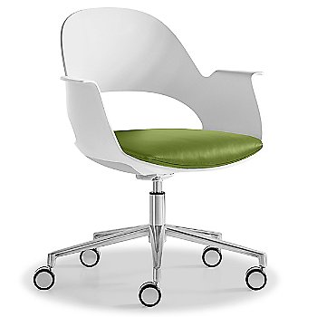 Mist / Polished Aluminum with Essential Leather / Urban Sprout upholstered seat