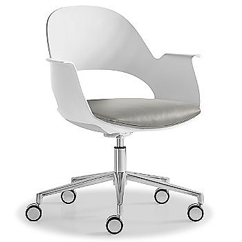 Mist / Polished Aluminum with Essential Leather / Focus Mica upholstered seat