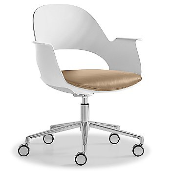 Mist / Polished Aluminum with Essential Leather / Focus Fawn upholstered seat
