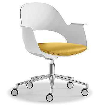 Mist / Polished Aluminum with Essential Leather / Focus Citrus upholstered seat