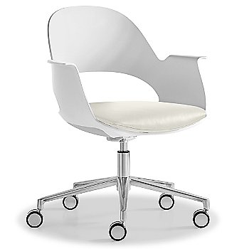 Mist / Polished Aluminum with Essential Leather /  Quartz upholstered seat
