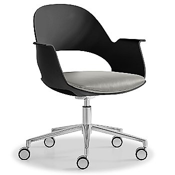 Black / Polished Aluminum with Essential Leather / Focus Mica upholstered seat