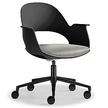 Black / Powder-coated Black with Essential Leather / Focus Mica upholstered seat
