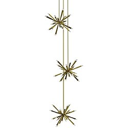 Starburst Triple LED Chandelier