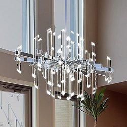 Facets LED Oval Chandelier