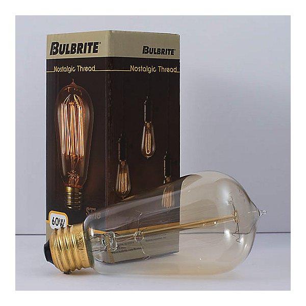 60W 120V ST18 E26 Squirrel Cage Edison Bulb