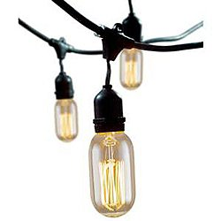 Outdoor String Lights With Vintage Edison Thread Lamps