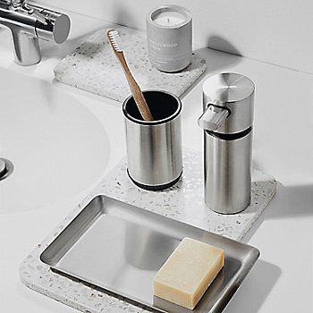 AREO Soap Dispenser, in use