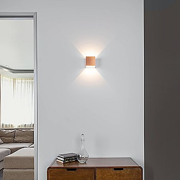 Copper finish, iIluminated