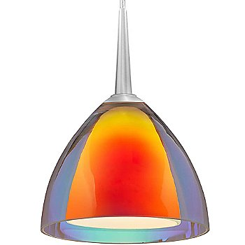 Shown in Dichroic Sunrise Glass with Chrome finish