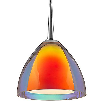 Shown in Dichroic Sunrise Glass with Matte Chrome finish