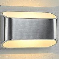 Eclipse I Wall Sconce (Brushed Chrome/White)-OPEN BOX RETURN