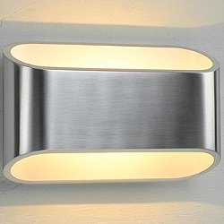 Eclipse I Wall Sconce (Brushed Chrome/White)-OPEN BOX RETURN