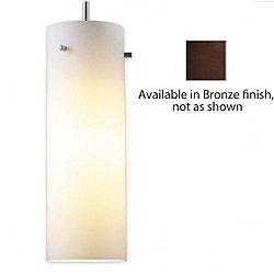 Titan I Down Pendant Light (White/Bronze/4 Inch) - OPEN BOX
