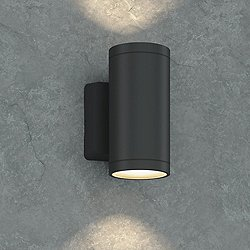Outdoor Wall Sconce (Anthracite/6 In/Downlight) - OPEN BOX
