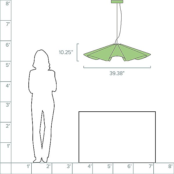 Delfina Acoustic Pendant Light