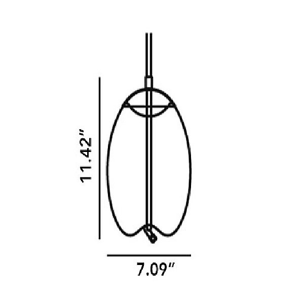Knot Uovo LED Pendant Light