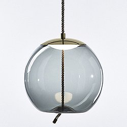 Knot Sfera LED Pendant(Smoke Grey/Brass/Med)-OPEN BOX RETURN