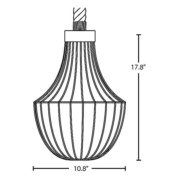 Sultana Flare Rope Pendant Light