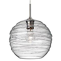 Wave 10 Pendant (Clear/Satin Nickel/A19/317)-OPEN BOX RETURN