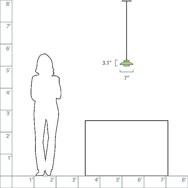 Trilo 7 Low Voltage Pendant Light - Halogen