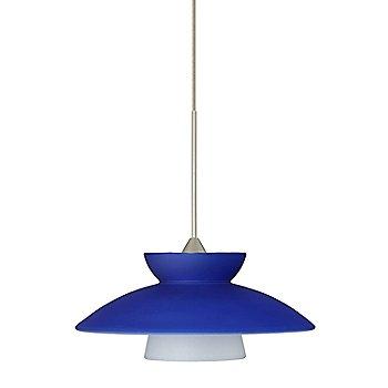 shwon in Blue-Matte / Satin Nickel finish