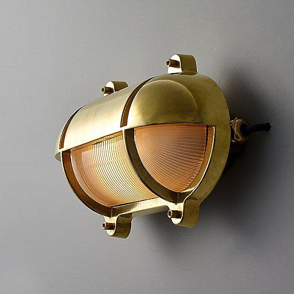 Oval Bulkhead Eyelid Outdoor Wall Light