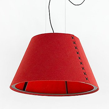 BuzziFelt Red Shade with Black stitching Detail