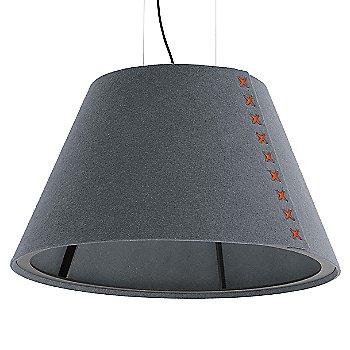 Black frame / BuzziFelt Stone Grey shade / Fluorescent Orange lace / Black cable