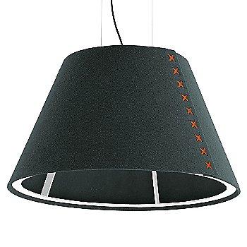 White frame / BuzziFelt Anthracite shade / Fluorescent Orange lace / Black cable