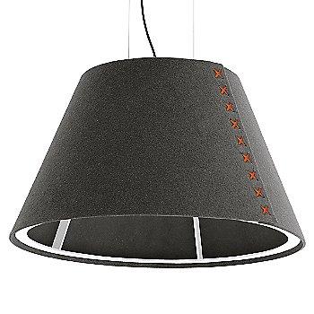 White frame / BuzziFelt Eco Brown shade / Fluorescent Orange lace / Black cable