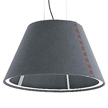 White frame / BuzziFelt Stone Grey shade / Fluorescent Orange lace / Black cable