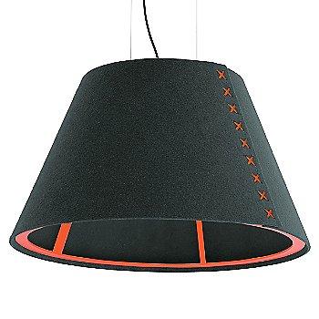Fluorescent Orange frame / BuzziFelt Anthracite shade / Fluorescent Orange lace / Black cable