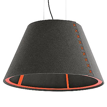 Fluorescent Orange frame / BuzziFelt Eco Brown shade / Fluorescent Orange lace / Black cable